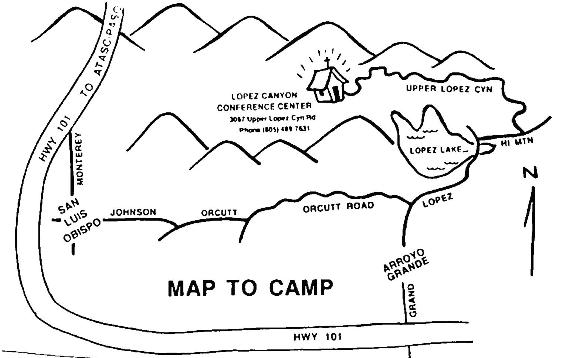 map to camp